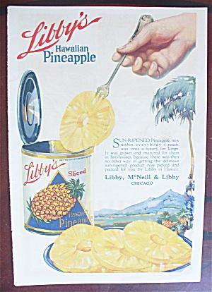 1921 Libby's Hawaiian Pineapple with Can Of Pineapple  (Image1)
