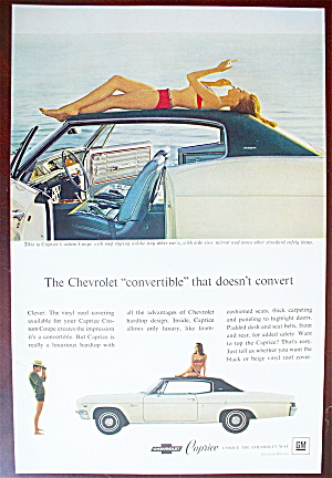 1966 Chevrolet Caprice With Girl Sunbathing On Roof