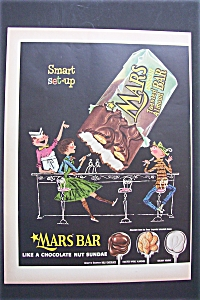 Vintage Ad: 1955 Mars Chocolate Toasted Almond Bar