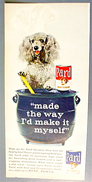 1963 Pard Dog Food With Poodle Stirring A Pot