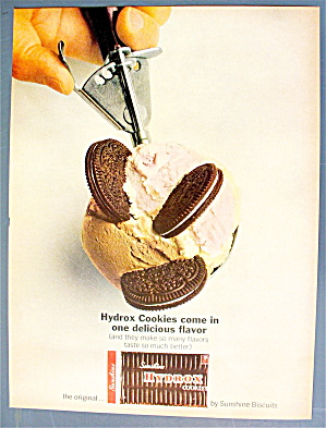 1963 Sunshine Hydrox Cookies W/a Scoop Of Ice Cream