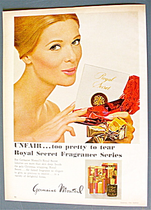 1966 Germaine Monteil with Woman Holding Fragrance Set (Image1)