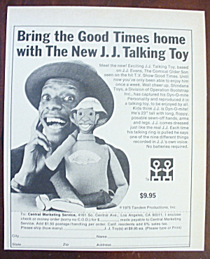 1975 J. J Talking Toy With James Evans (Jimmie Walker)