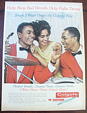 1962 Colgate Toothpaste With Woman & 2 Guys (Image1)