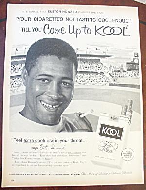 1962 Kool Cigarettes With Elston Howard (Image1)