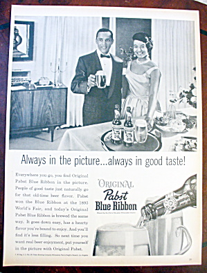 1962 Pabst Blue Ribbon Beer With Couple (Image1)