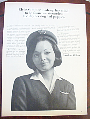 1965 American Airlines With Stewardess