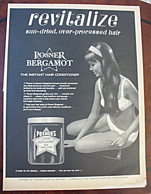 1965 Posners Bergamot Conditioner With Lovely Woman (Image1)
