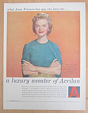 1955 Acrilan Sweater With Anne Francis