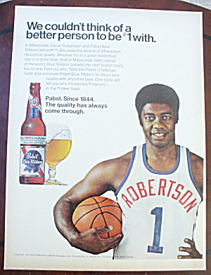 1975 Pabst Blue Ribbon Beer