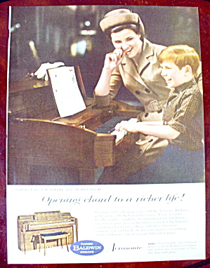 1963 Baldwin Piano With Boy Playing Piano