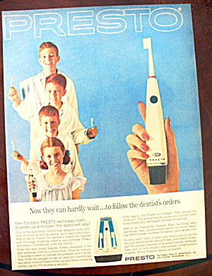 1963 Presto Cordless Toothbrush with 4 Children (Image1)