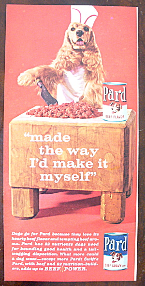 1963 Pard Dog Food With Dog Butcher