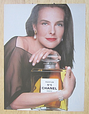 1992 Chanel No 5 Parfum w/ Lovely Woman Holding Bottle  (Image1)