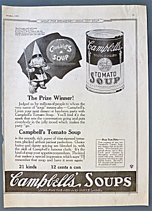 1922 Campbell's Tomato Soup w/Campbell Kid As Witch (Image1)