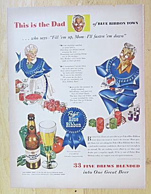 1943 Pabst Blue Ribbon Beer with This Is Dad  (Image1)