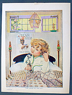 1924 Cream Of Wheat Cereal With Child On Phone