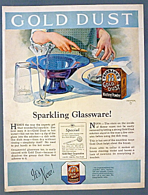 1925 Gold Dust Washing Powder w/Woman Doing Dishes (Image1)