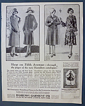1926 Hamilton Garment Co With Women In Fashions