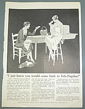 1926 Fels Naptha Soap With Women Talking At Table