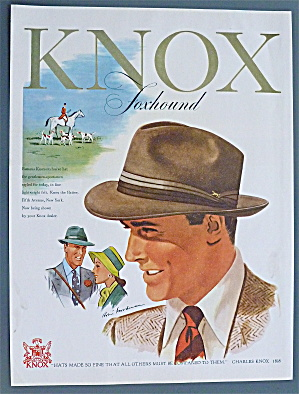 1947 Knox Hats With Man Wearing Hat