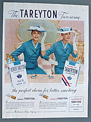 1956 Tareyton Cigarettes with Twin Women Smiling (Image1)