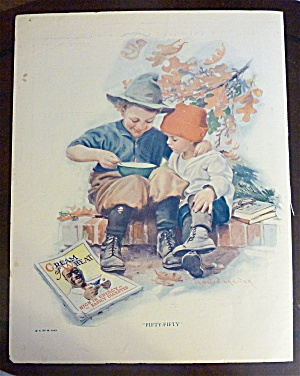 1923 Cream Of Wheat W/ Two Boys Sitting & Eating Cereal