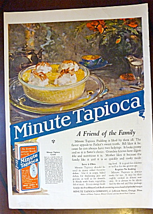 1922 Minute Tapioca with Bowl Of Tapioca Pudding  (Image1)