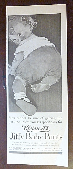 1922 Kleinert's Jiffy Baby Pants with Little Baby  (Image1)
