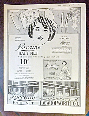 1921 Lorraine Hair Net with Woman Smiling  (Image1)