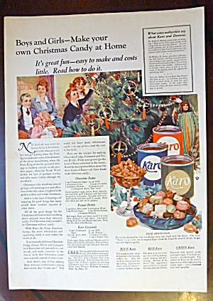 1921 Karo Syrup With Children Decorating Christmas Tree