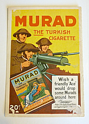 1919 Murad Turkish Cigarettes With Soldiers