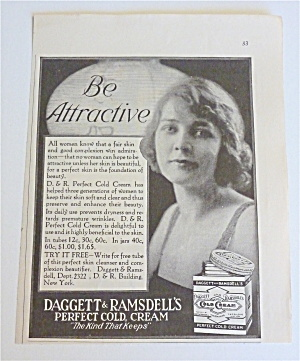 1921 Daggett & Ramsdell's Cold Cream With Lovely Lady