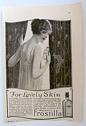 1922 Frostilla With Lovely Woman Looking Out Window