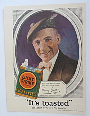1928 Lucky Strike Cigarettes with Sir Harry Lauder  (Image1)