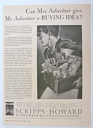 1930 Scripps Howard Newspapers with Grocery Boy (Image1)