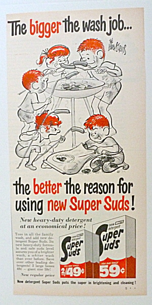 1963 Super Suds with Dirty Children Barbecuing Hot Dogs (Image1)