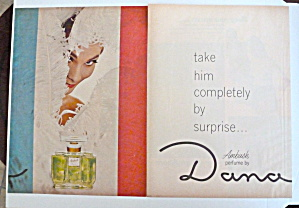 1966 Dana Ambush Perfume With Lovely Woman
