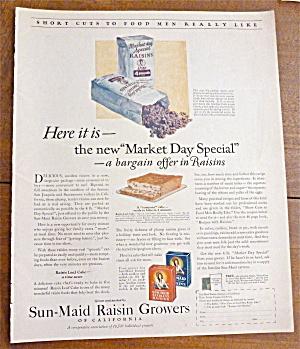 1924 Sun Maid Raisin Growers w/ Raisin Loaf Cake (Image1)