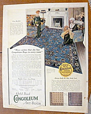 1924 Congoleum Art Rugs With Women Looking At Rug