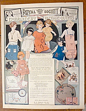1923 Royal Society Embroidery With Different Fashions