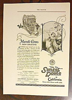 1924 Southern Pacific Lines With Mardi Gras