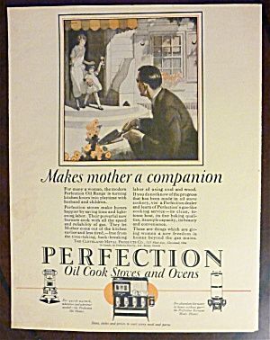 1925 Perfection Oil Cook Stoves & Ovens W/man Gardening