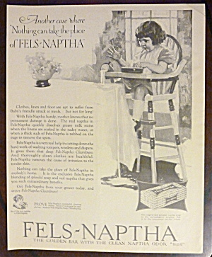 1924 Fels Naptha With Little Girl Sitting In Highchair