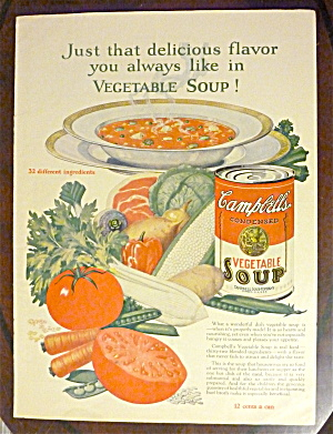 1926 Campbell's Vegetable Soup w/ Bowl Of Soup (Image1)