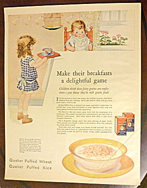 1925 Quaker Puffed Rice w/Little Girl Feeding Baby (Image1)