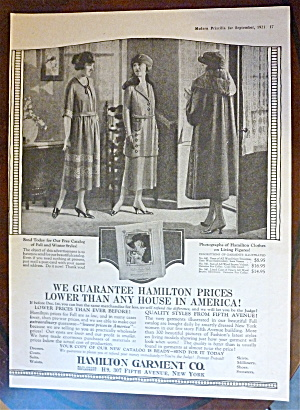 1921 Hamilton Garment Company With Women In Style