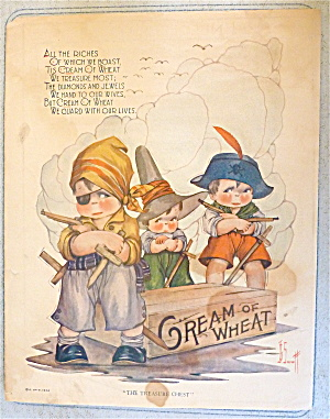 1924 Cream Of Wheat Cereal With Boys Dressed As Pirates