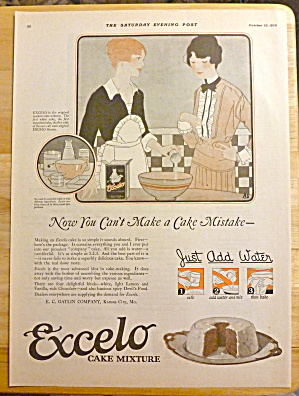 1920 Excelo Cake Mixture With Two Women Talking