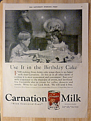1921 Carnation Milk with Boy & Girl Sitting at Table (Image1)
